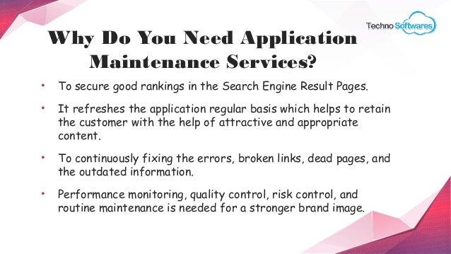 Advantages of application maintenance services