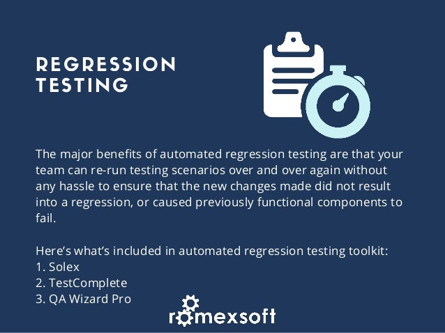 Why companies fail to automate regression testing