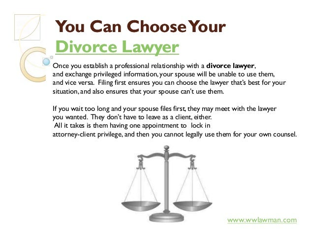 You Can ChooseYourYou Can ChooseYour Divorce LawyerDivorce Lawyer Once you establish a professional relationship with a di...