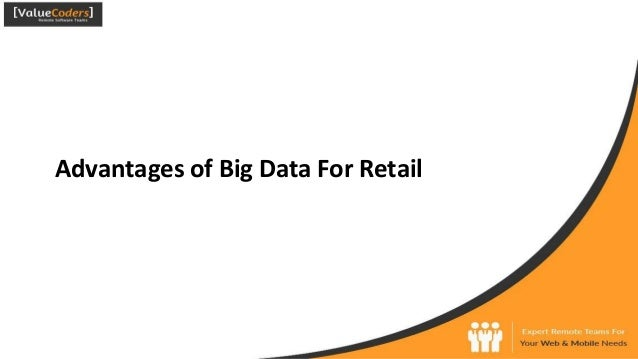 Advantages of Big Data For Retail