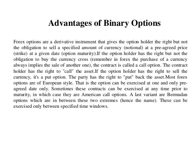 What are the disadvantages of binary options trading