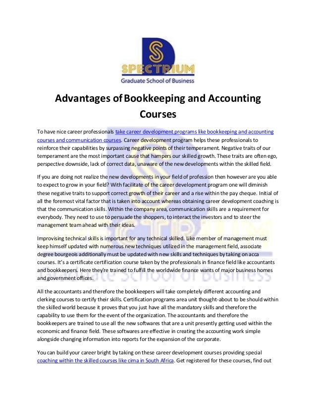 Advantages Of Bookkeeping And Accounting Courses