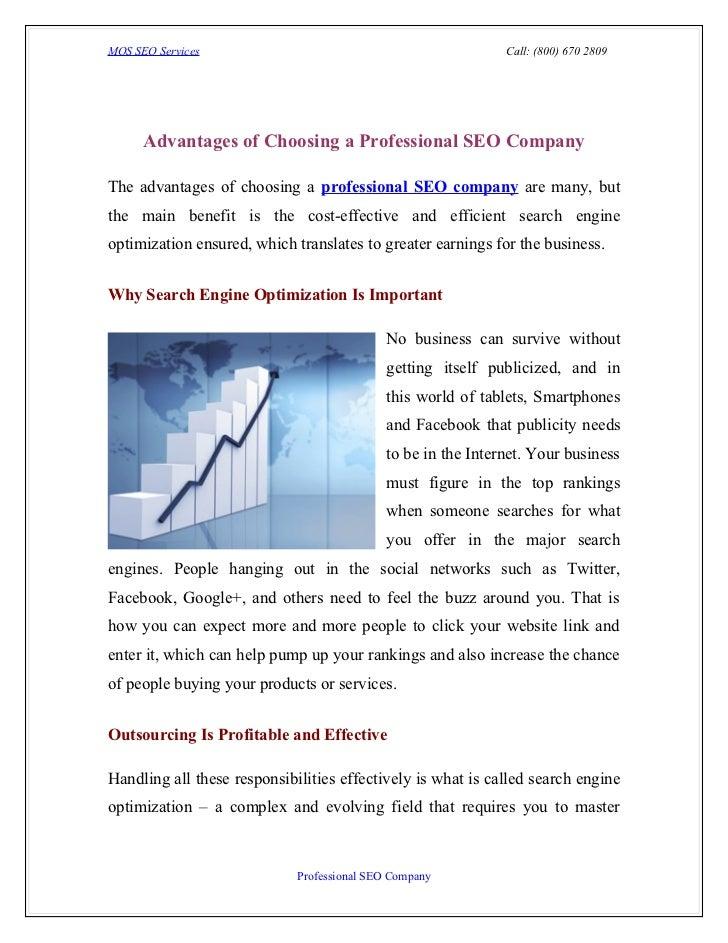 MOS SEO Services                                              Call: (800) 670 2809      Advantages of Choosing a Professio...