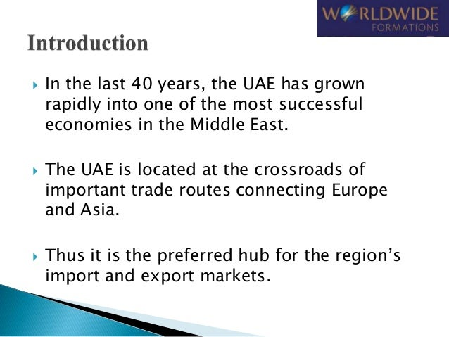 Advantages of Company Formation in UAE Slide 2