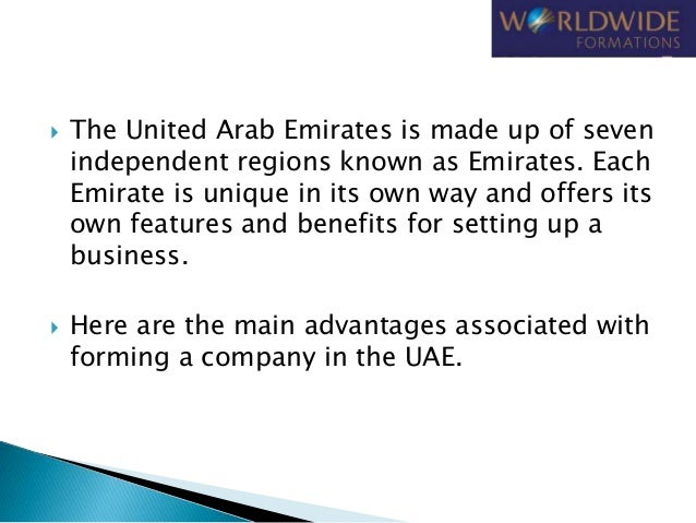Advantages of Company Formation in UAE Slide 3