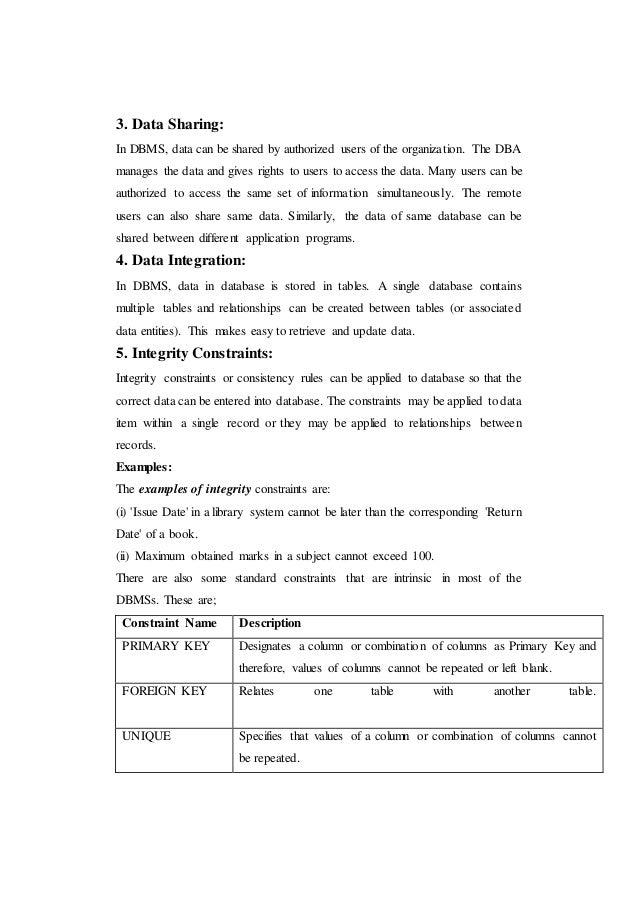 advantages of database management system pdf