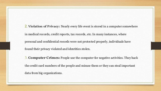 advantages of computer crimes The advantages and disadvantages of forensic imaging the investigation of crimes involving computers is not a simple process in the vast majority of cases, the assistance of a computer forensic expert is required to extract information from an electronic device without corrupting or contaminating the original data, which could render any.