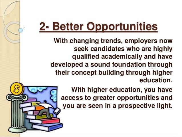 pursue higher education