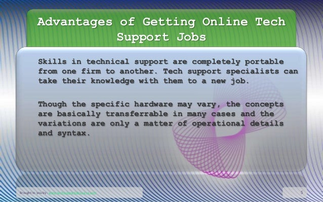 basic tech support knowledge