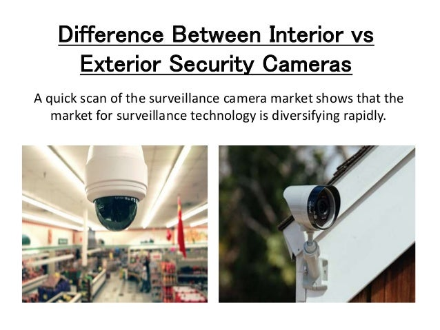 Advantages Of Interior And Exterior Security Cameras