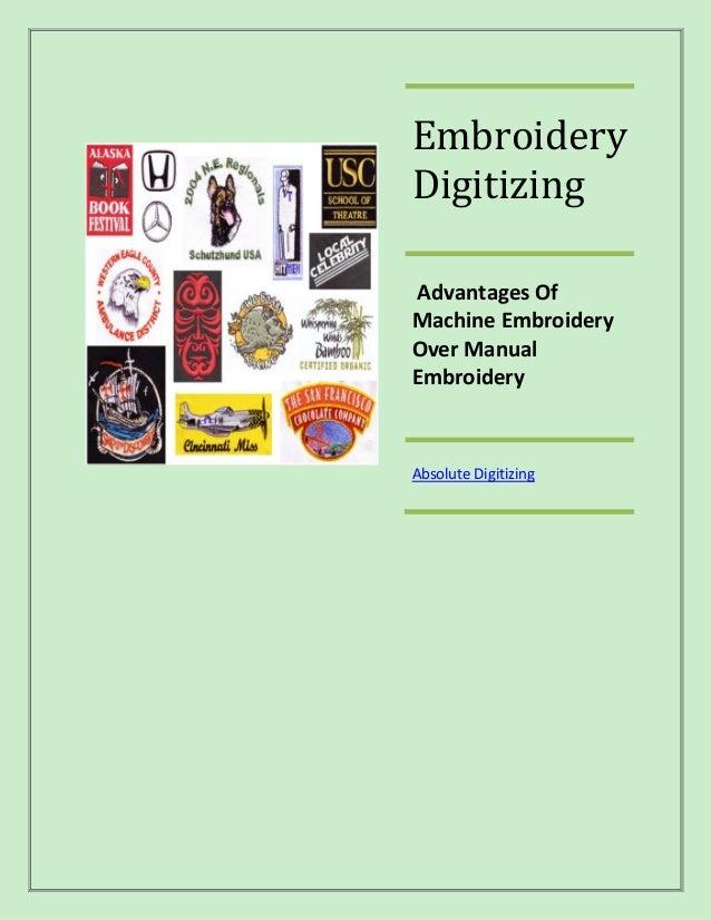 Embroidery Digitizing Advantages Of Machine Embroidery Over Manual Embroidery  Absolute Digitizing