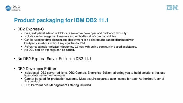 Advantages of migrating to db2 v11 1