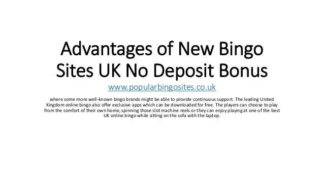 New bingo sites no deposit bonuses online poker website software