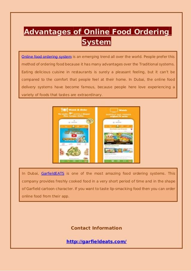 Advantages of online food ordering system