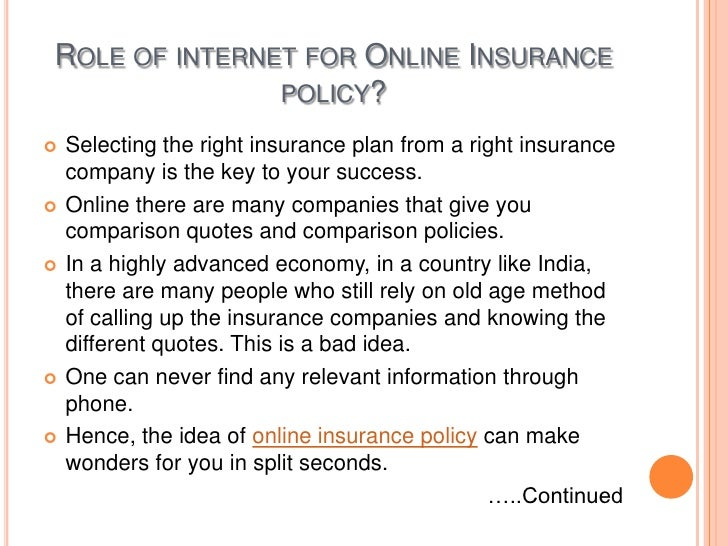 What Are The Advantages Of Using Online Insurance Policy