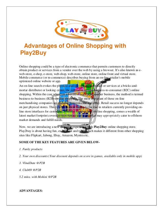 802a0596b5 Advantages of online shopping with play2 buy | Online clothing