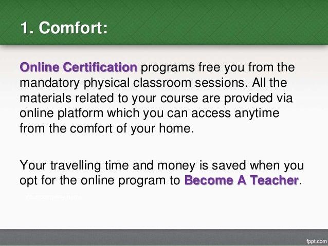 Advantages of Online Teacher Certification