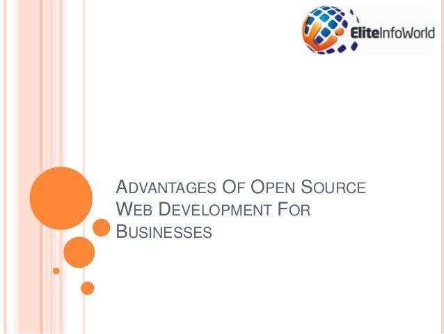 ADVANTAGES OF OPEN SOURCE WEB DEVELOPMENT FOR BUSINESSES