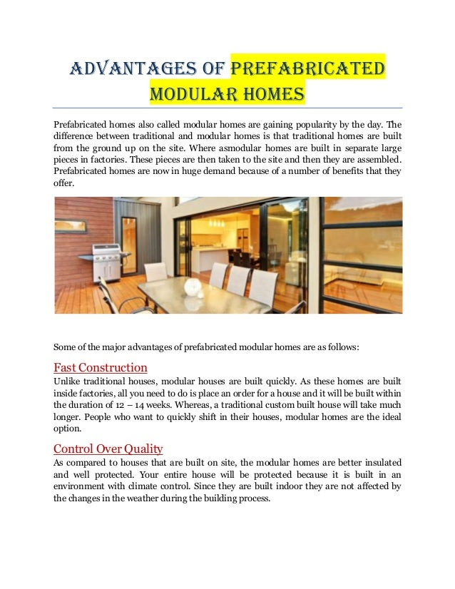 Advantages of prefabricated modular homes - Disadvantages of modular homes ...