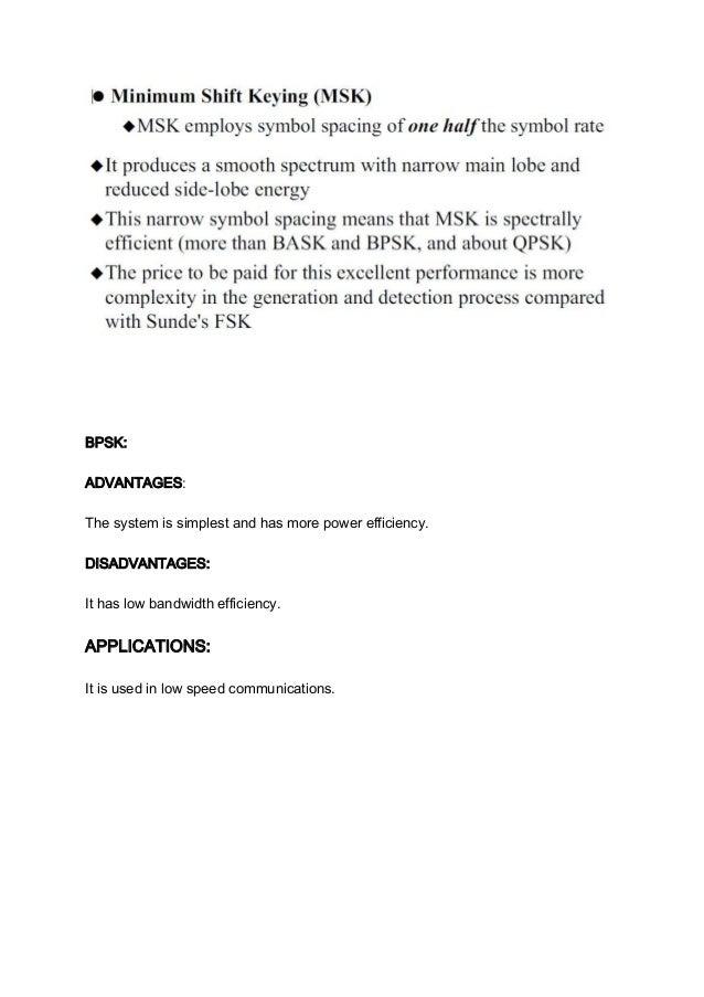 Advantages Of Qpsk