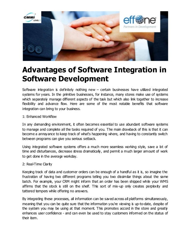 advantages of an integrated database system