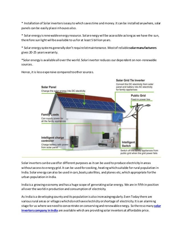Advantages Of Solar Inverter In India Go Solar Save Money