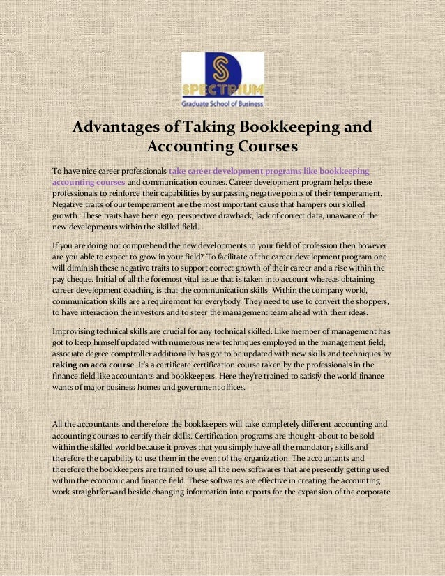 advantages of coursework Five advantages to having an mba in entrepreneurship  these experiences  often go hand-in-hand with the coursework and require students to work with.