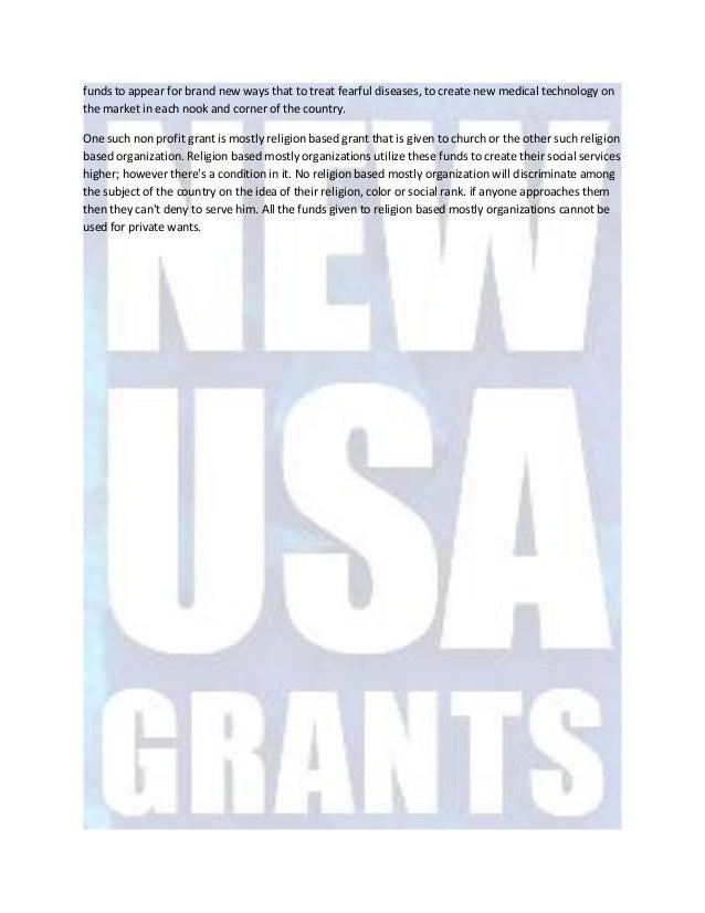 Advantages of the faith based non profit grants