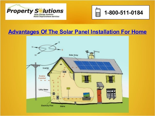 1-800-511-0184 Advantages Of The Solar Panel Installation For Home