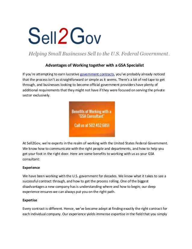 Advantages of Working together with a GSA Specialist If you're attempting to earn lucrative government contracts, you've p...
