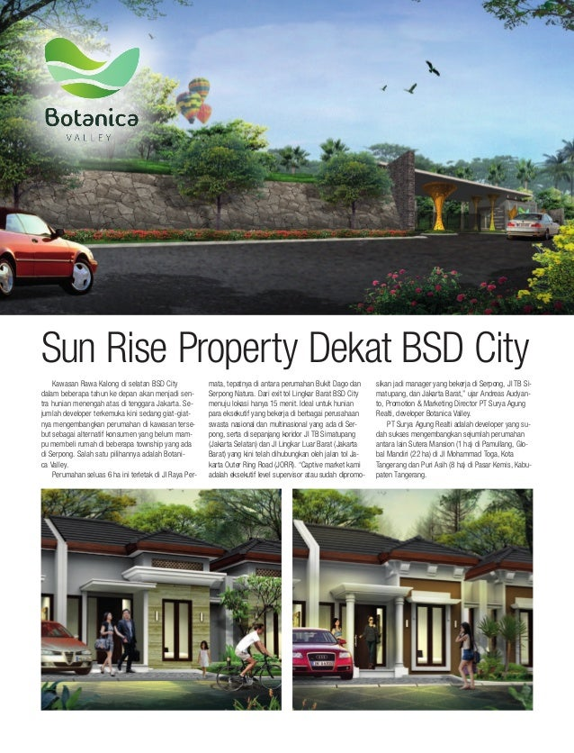 Andreas Audyanto Cluster Botanica Valley Serpong