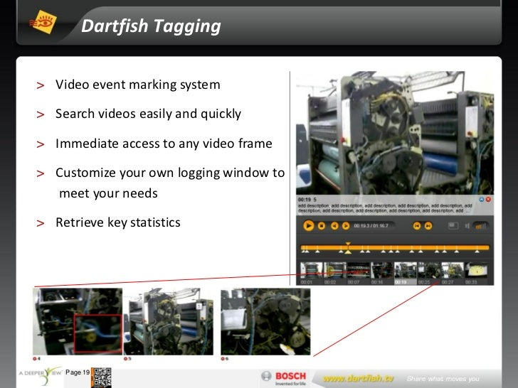Dartfish Tagging   > Video event marking system   > Search videos easily and quickly   > Immediate access to any video fra...