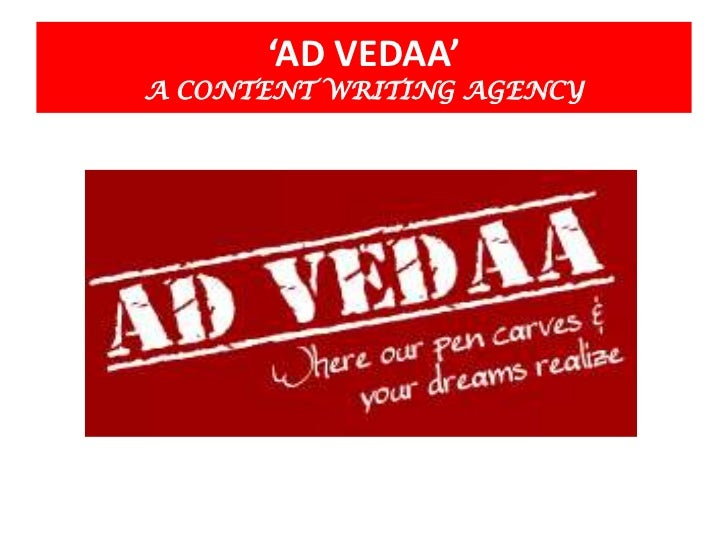 'AD VEDAA'A CONTENT WRITING AGENCY