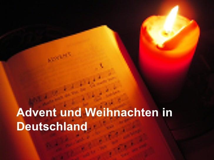 Advent und Weihnachten in Deutschland