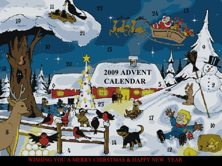 2009 ADVENT CALENDAR WISHING YOU A MERRY CHIRSTMAS & HAPPY NEW  YEAR