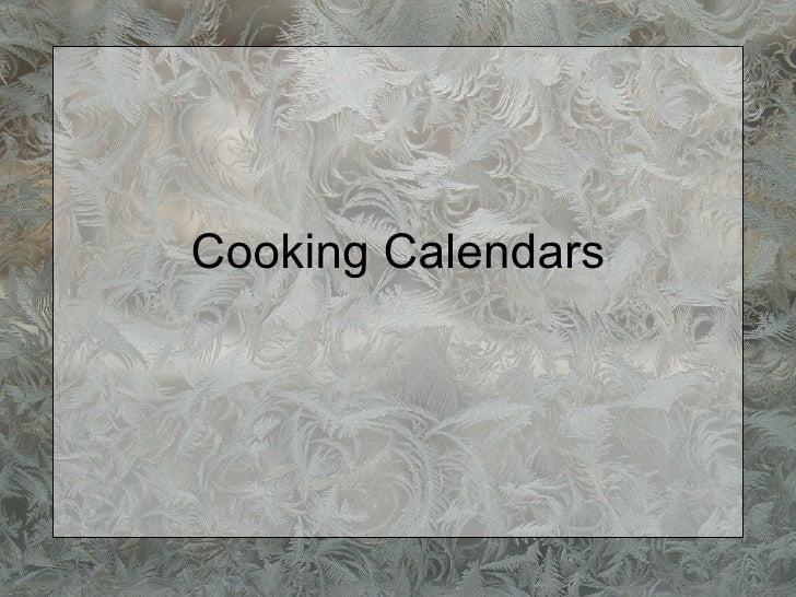 Advent calendars christmas countdowns and more 08 7 cooking calendars solutioingenieria Gallery