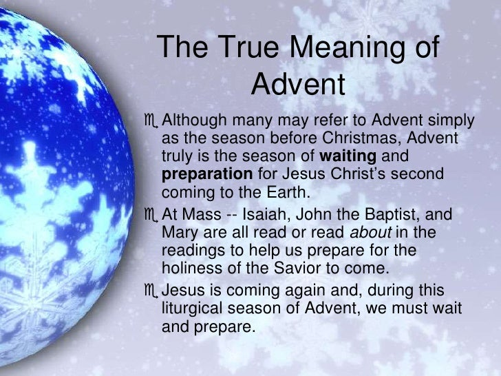 Advent class reflections
