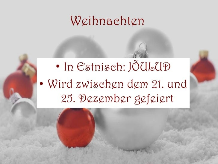 Frohe weihnachten auf estnisch