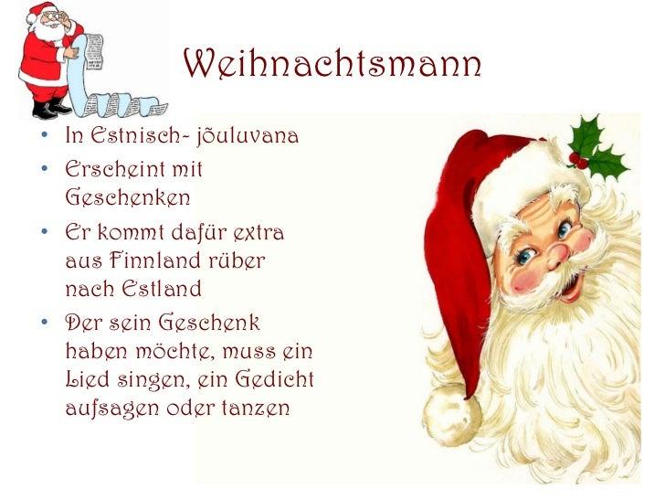 Gedichte an weihnachtsmann