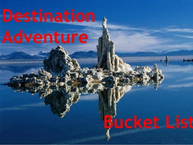 Destination Adventure Bucket List