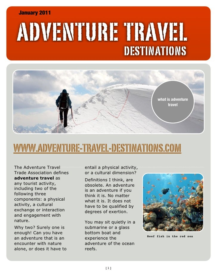 January 2011 ADVENTURE TRAVEL                                               DESTINATIONS                                  ...
