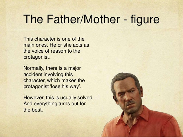 The Father/Mother - figure This character is one of the main ones. He or she acts as the voice of reason to the protagonis...