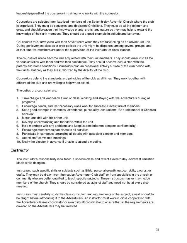 adventurer club manual rh slideshare net Adventurer Curriculum Resources Adventurer Curriculum Resources