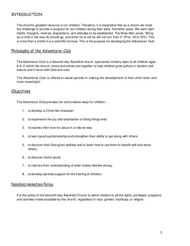 adventurer club manual rh slideshare net Adventurer Classes SDA Adventurer Club Activities
