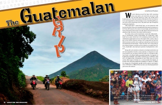 By Brienne Thomson 22 ADVENTURE RIDER MAGAZINE22 ADVENTURE RIDER MAGAZINE November/December 2011 23 We were relaxing aroun...