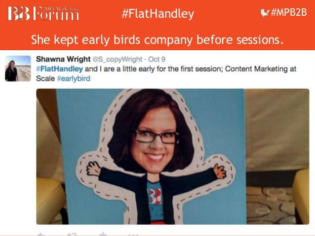 ##FFllaattHHaannddleleyy ##MMPPBB22BB  She kept early birds company before sessions.