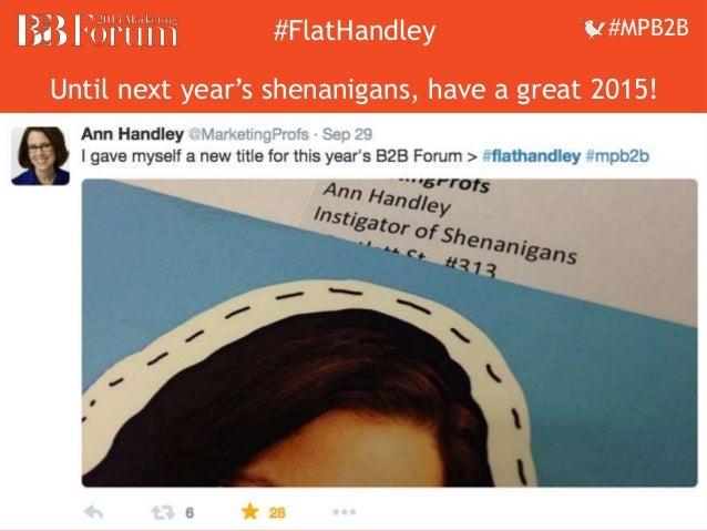 ##FFllaattHHaannddleleyy ##MMPPBB22BB  Until next year's shenanigans, have a great 2015!