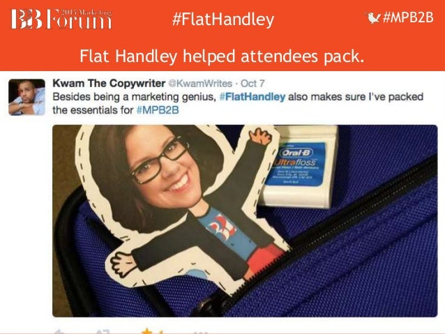 ##FFllaattHHaannddleleyy ##MMPPBB22BB  Flat Handley helped attendees pack.
