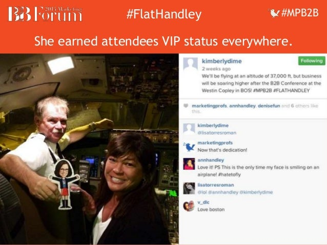 ##FFllaattHHaannddleleyy ##MMPPBB22BB  She earned attendees VIP status everywhere.