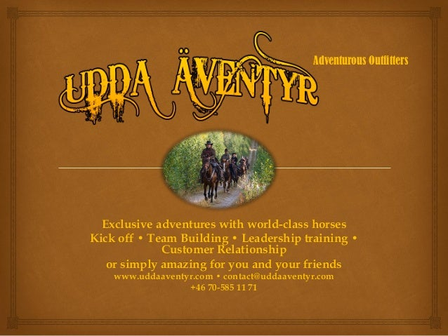 Exclusive adventures with world-class horses Kick off • Team Building • Leadership training • Customer Relationship or sim...